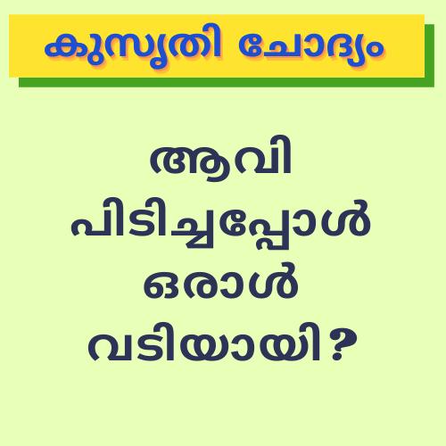 Aavi pidichappol vadiyaayi