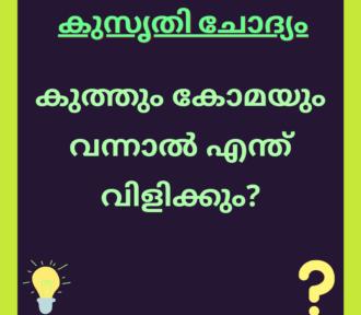 കുത്തും കോമയും വന്നാൽ എന്ത് വിളിക്കും? | with Answer